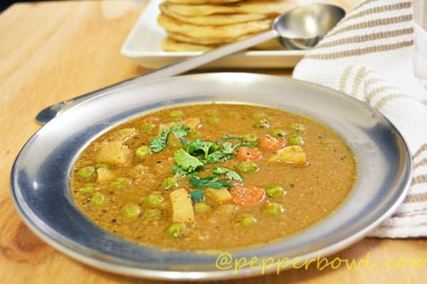 Parota chalna Recipe-Salna-charu-Vegetable chalna