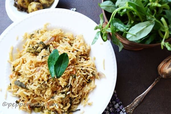 Methi Biryani-Fenugreek Leaves Rice Recipe