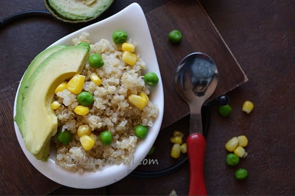 Quinoa Salad with Corn , Peas, Avacado
