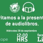 Presentación de audiolibros – Transmisión en vivo