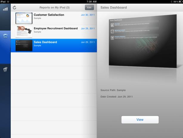 IBM Cognos iPad