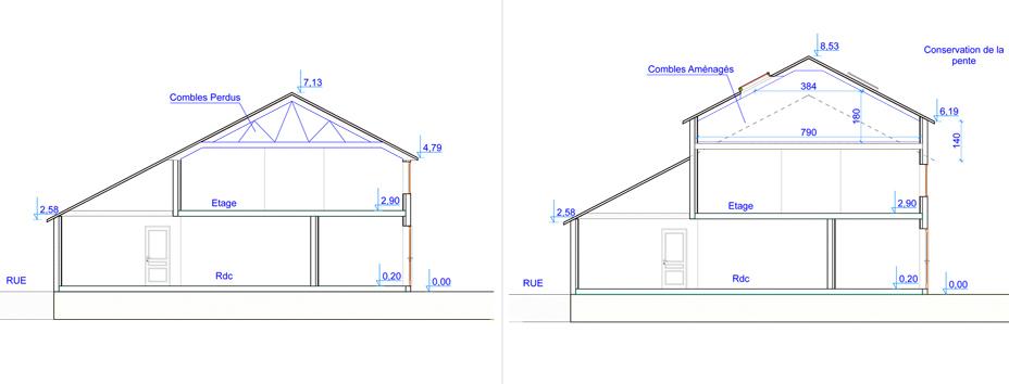 Permis de construire sur l vation de maison permis de for Quelle surface pour un permis de construire