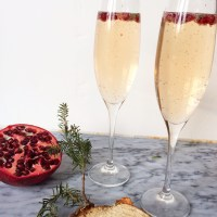 Pomegranate and Thyme Champagne
