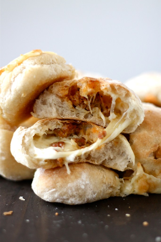 Stuffed Ciabatta Rolls with Italian Sausage and Cheese