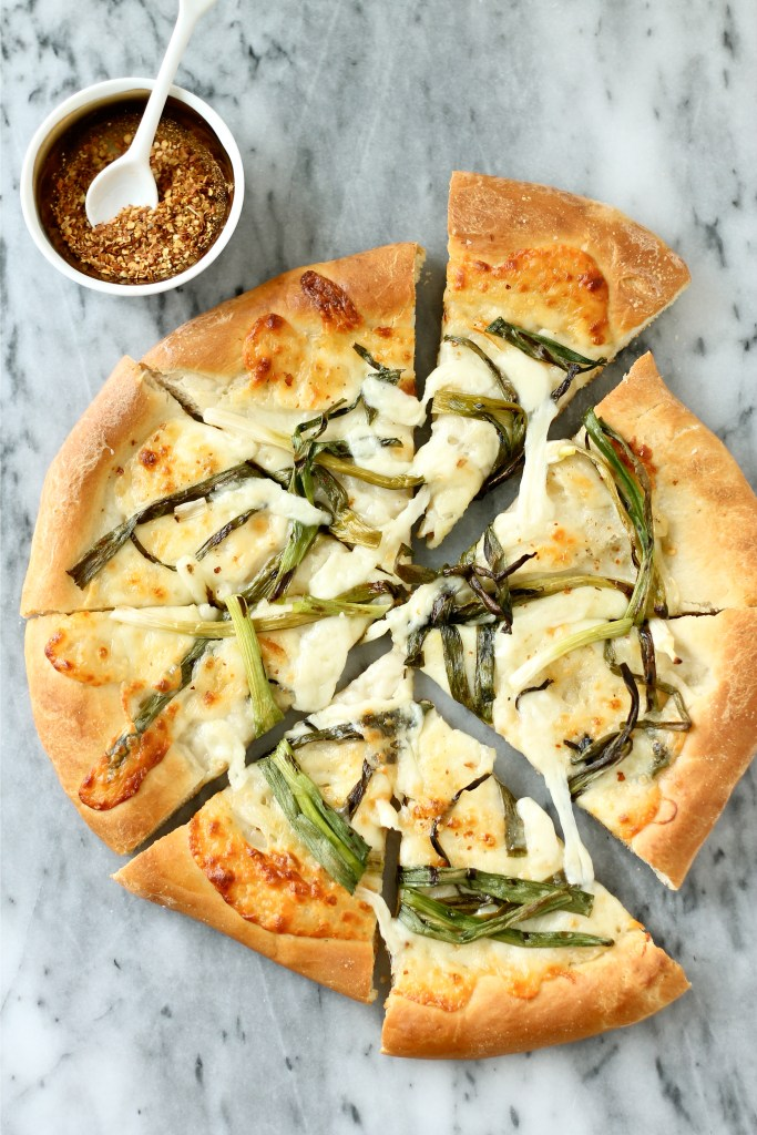 Grilled Green Onion Pizza