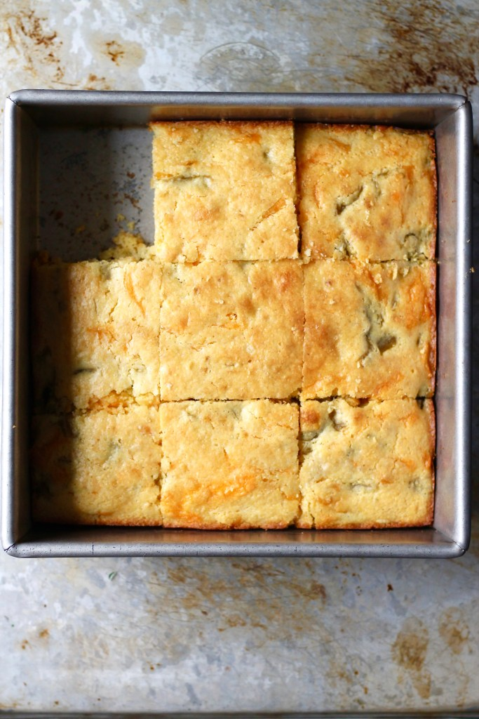 Buttermilk and Hatch Chile Cornbread