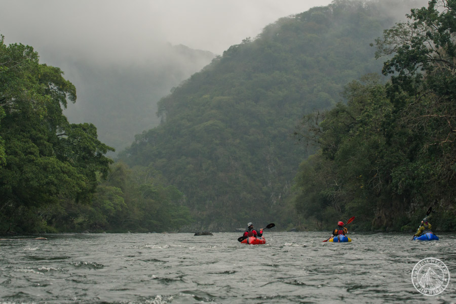 Mehl, Tumolo and Fassbinder paddle the Rio Antigua