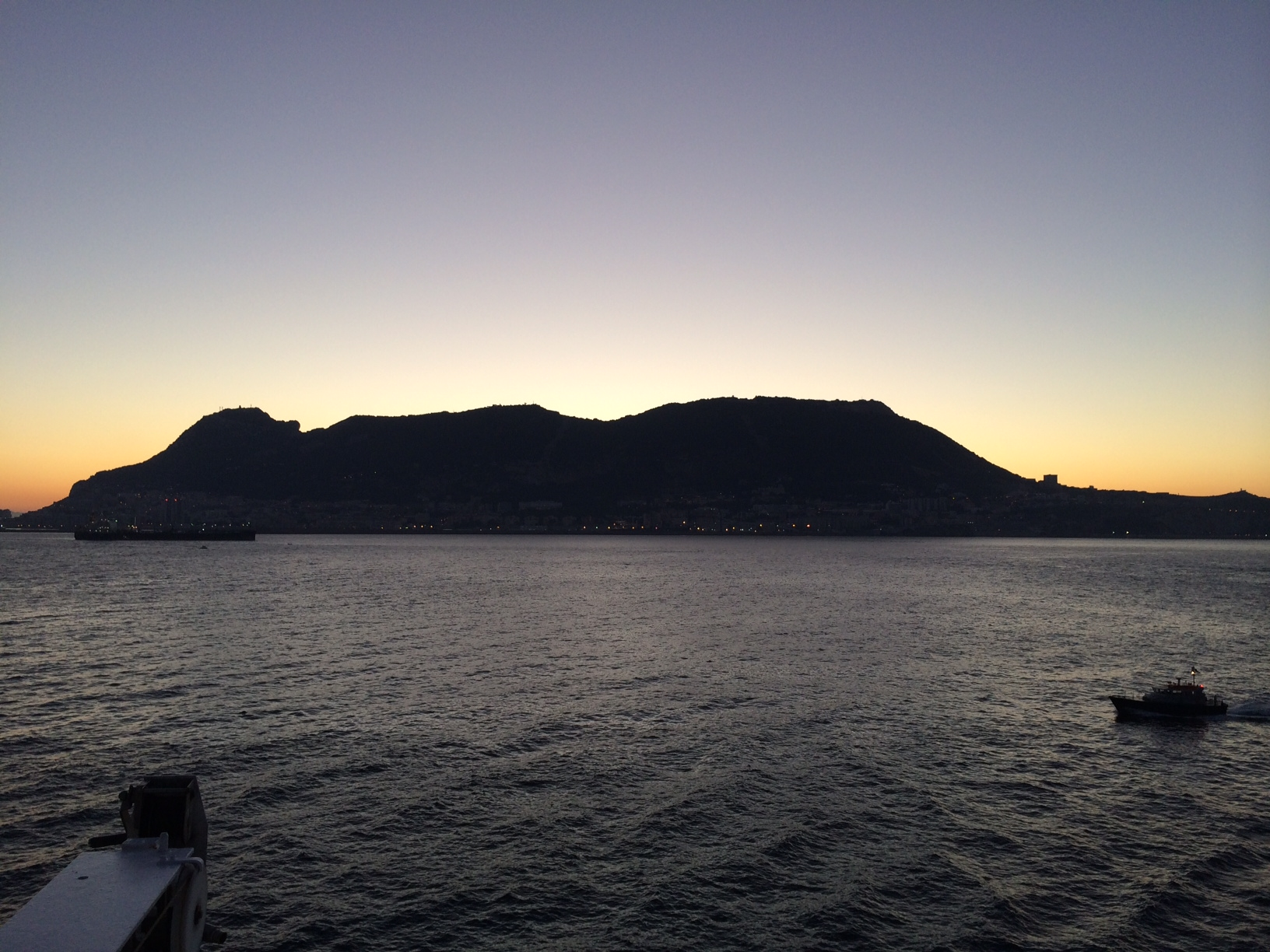 The Rock of Gibraltar, seen from on board Azamara Journey during PerryGolf's 2014 Iberian Peninsula Golf Cruise.