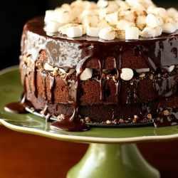 Chocolate Malt Cake Perrys Plate