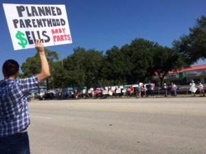 Planned Parenthood Protest Lakeland FL August 22 2015