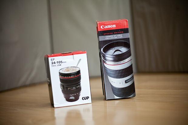 Unboxing the Canon Lens Thermos and Coffee Mug lensmug1