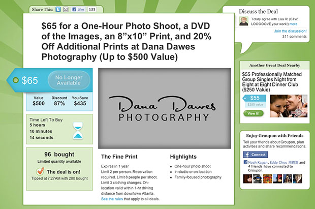 Photographer Offers Groupon Deal Using Stolen Photographs, Chaos Ensues grouponscam