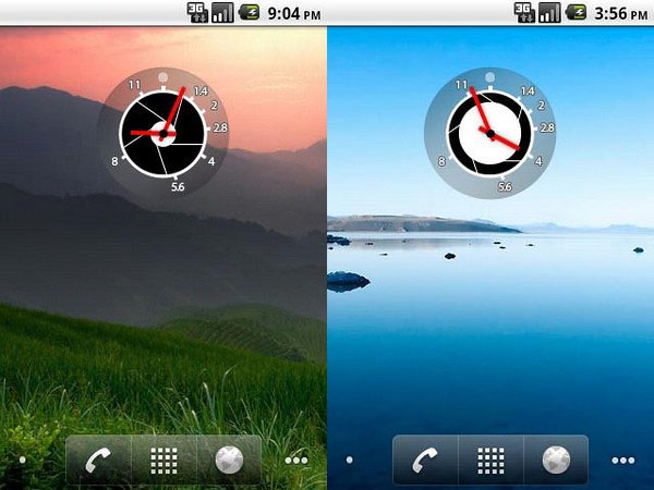 Geeky Aperture Clock Widget for Photogs with Android Phones apertureclock