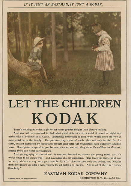 Kodak Camera Ad from 100 Years Ago childrenkodak