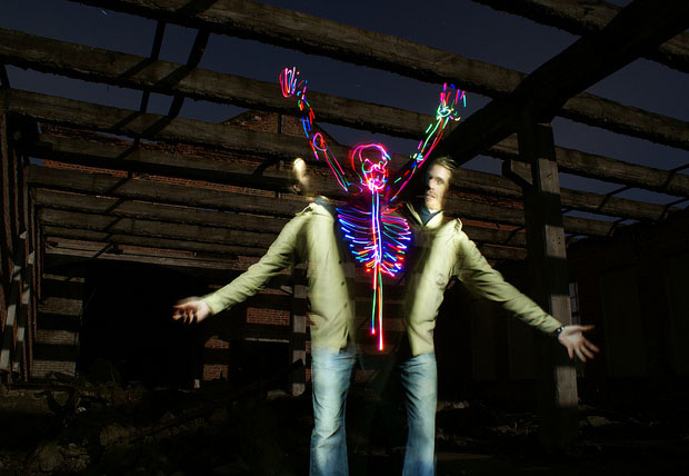 Jumping Out of Ones Skin with Creative Light Painting lightpainting