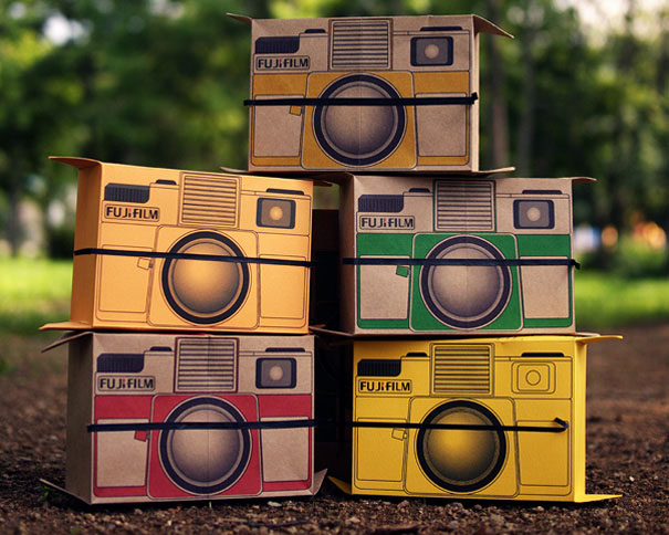 Concept Cardboard Pinhole Camera Shoots Instant Photos flutter