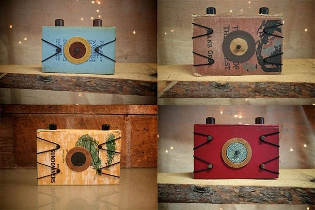 Pinhole Cameras Made from Vintage Hardback Books bookpinholes