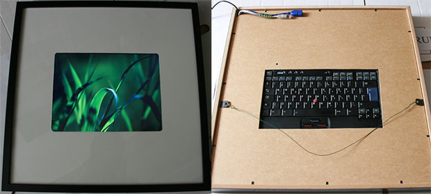 Old Laptop Transformed into a Custom Digital Photo Frame thinkpadframe