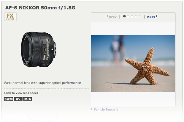 Nikkor AF S 50mm f/1.8G Appears then Disappears from Nikons Website nikon50mm