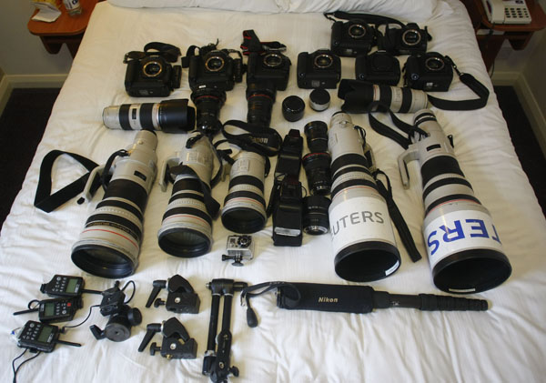 Reuters Team Photo Gear for Shooting the Royal Wedding reuterskit