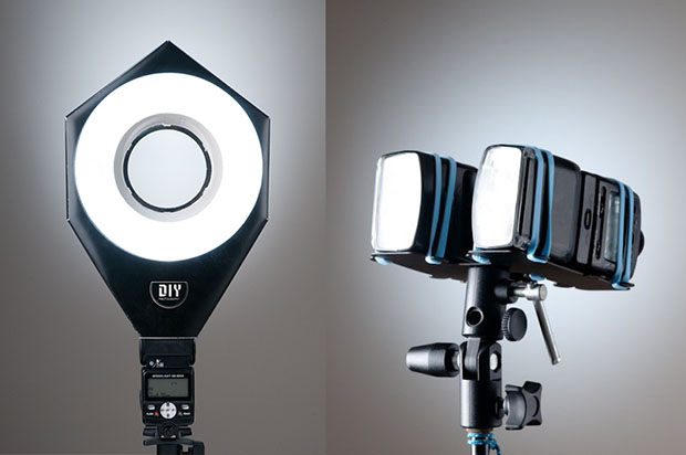 Ring Flash and Double Flash Bracket Kits that You Assemble Yourself diylighting