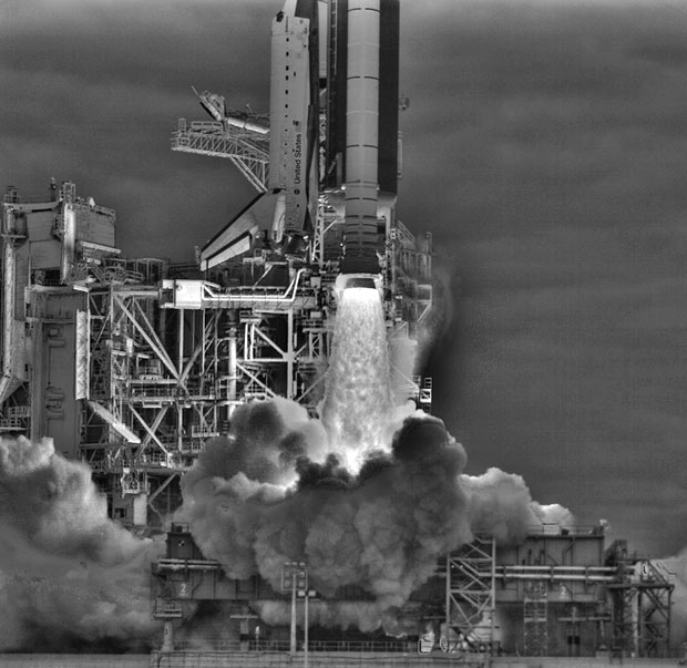 HDR Photo of Endeavour Liftoff by NASA endeavour
