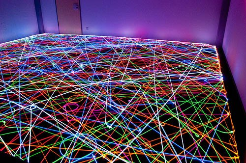 Light Painting Art Done Using Swarms of Robot Vacuum Cleaners r1