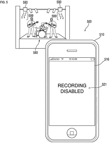 Apple Patent Appears to Show System for Disabling Camera Remotely recordingdisabled