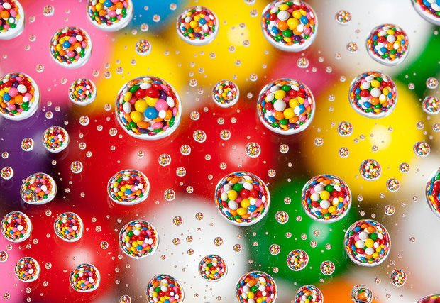 Candies Photographed in Water Drops candies1 mini