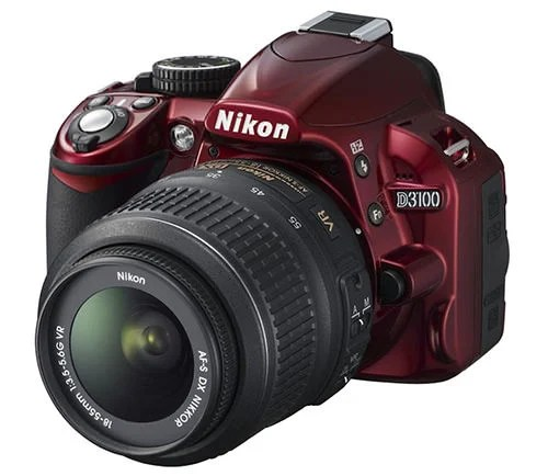 Red is the New Black? Nikon Goes Colorful with the D3100 nikond3100red mini