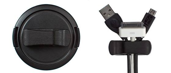 The Nice Clip: A Universal Lens Cap Clip That Doubles as a Cord Catcher clip mini