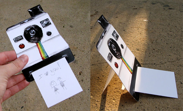 Polaroid Camera Greeting Cards with Instant Photo Messages polaroidcard mini