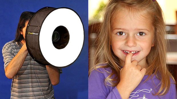 RoundFlash: A Collapsible Ring Flash Adapter That Sets Up Like a Tent roundflash mini