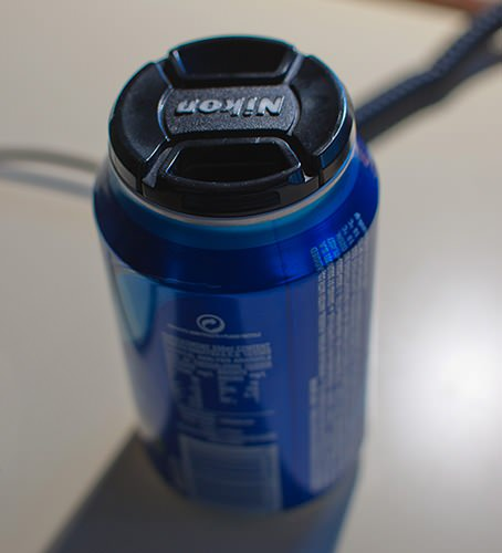 Random Fact: Nikon 52mm Lens Caps Fit Perfectly on Most Beverage Cans sodacan mini