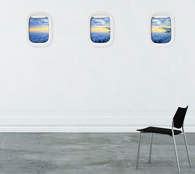 Airframe: A Picture Frame Thats Shaped Like an Airplane Window airframe mini