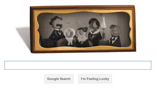 Google Doodle Honors Louis Daguerre, Father of Photography doodle mini
