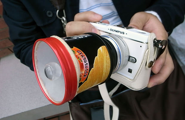 A Homemade Potato Chip Tube Lens potato mini