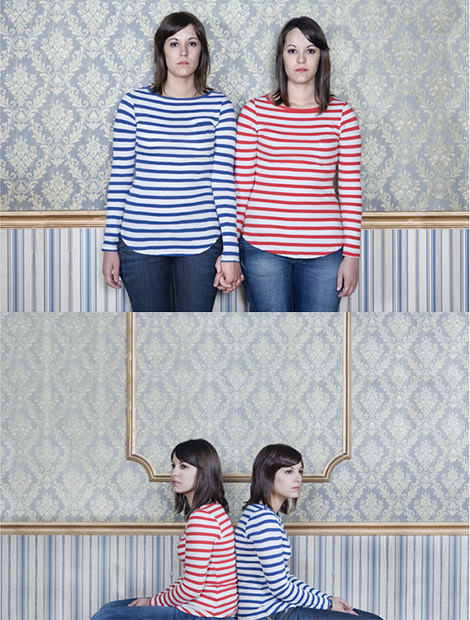 Photographer Collects Photographs of Identical Twins twin1 mini