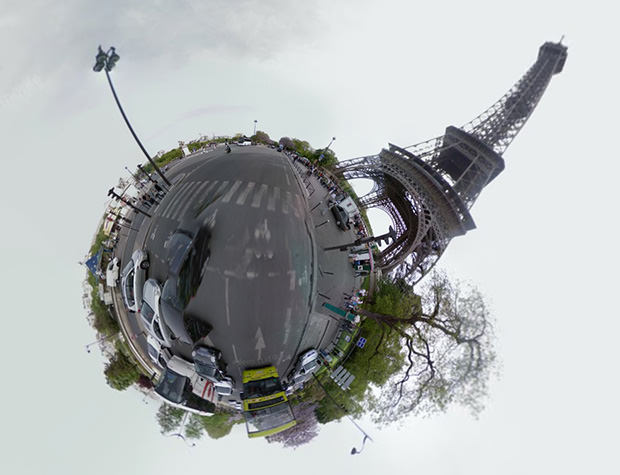 Quickly Create a Little Planet Photo From Any Google Street View Location eiffel mini