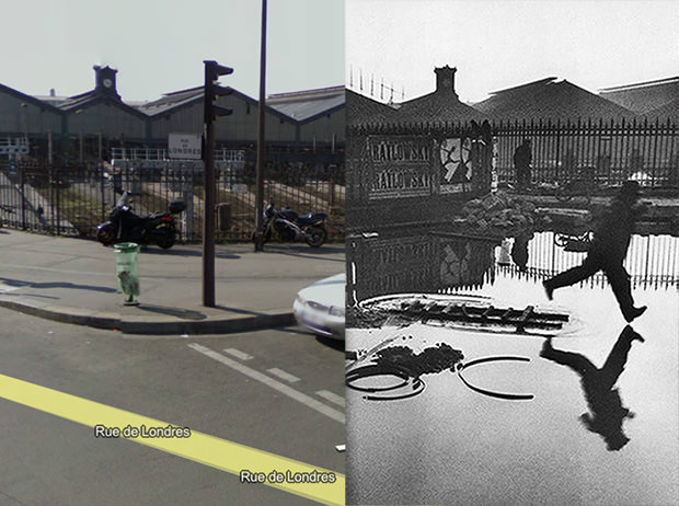 A Glimpse Behind the Gare St. Lazare in Google Street View decisivemoment mini