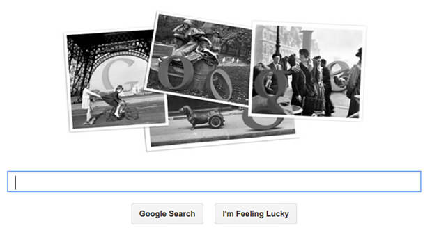 Google Doodle Commemorates Street Photographer Robert Doisneau google mini