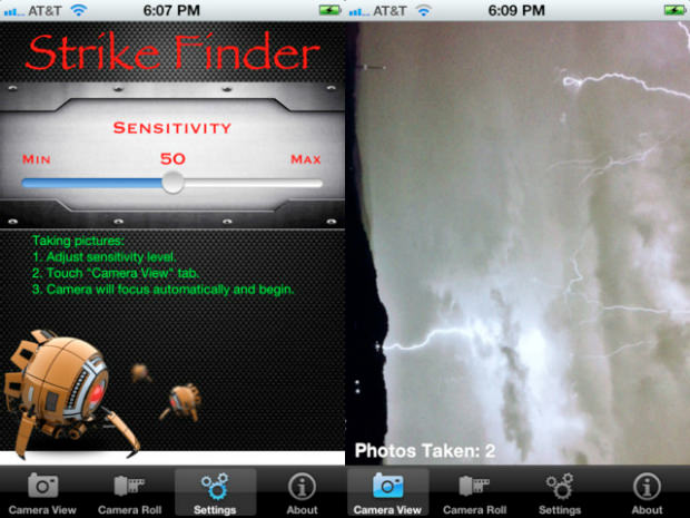 StrikeFinder Lets You Capture Lightning and Fireworks on Your iPhone strikefinderapp mini