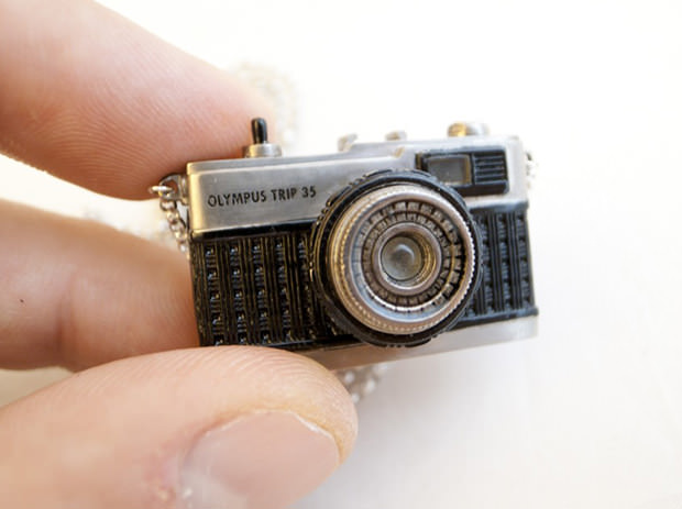 This Extremely Detailed Olympus Trip 35 Pendant Actually Works pendant1 mini