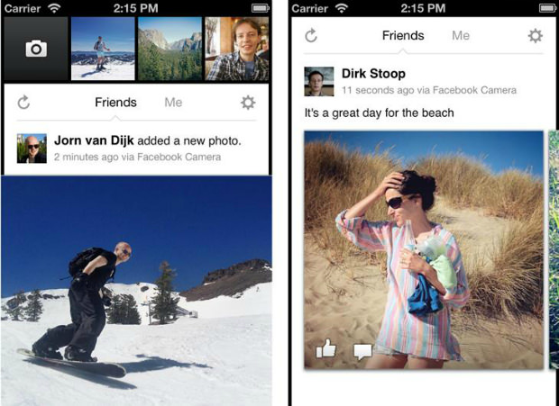 Facebook Launches Its Own Camera App snap1F mini