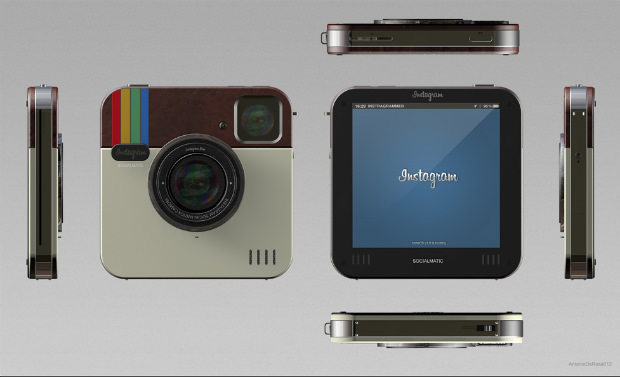 Instagram Socialmatic: A Concept Design for a Physical Instagram Camera socialmatic 1 mini
