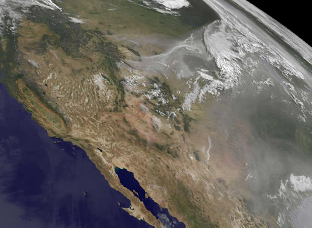 U.S. Wildfires Photographed From Space space mini