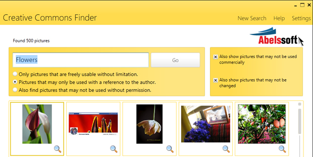 CCFinder: A Creative Commons Photo Search Program for Windows CCFinder