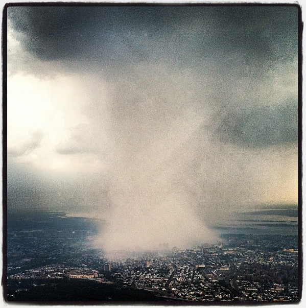 Incredible Instagram Photo of a Storm Over New York City storm mini