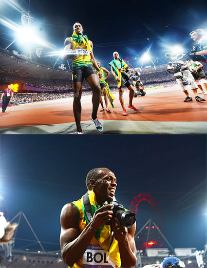 Usain Bolt Nabs Photographers DSLR, Snaps Awesome POV Shots bolt1 mini