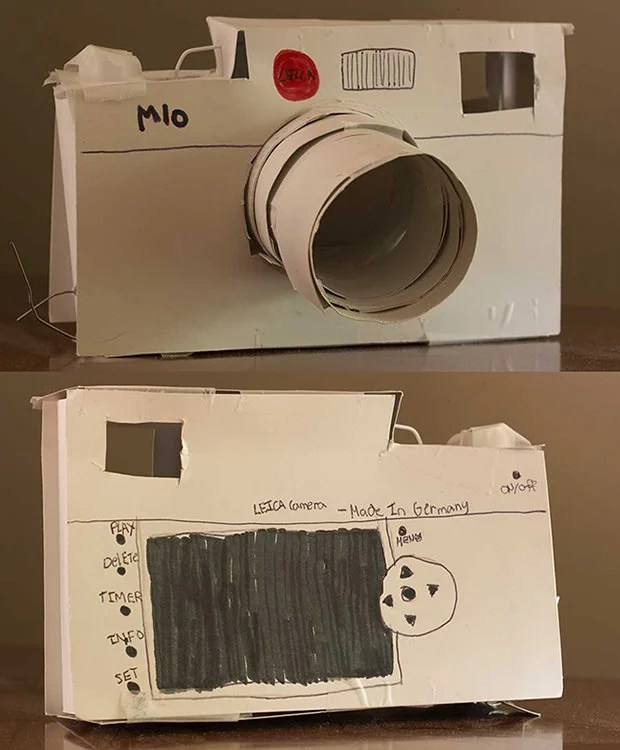 Cute Papercraft Leica M10 Birthday Gift by a Photographers Kids paperleica mini